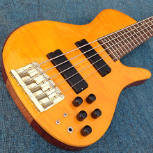 Free shipping Starshine electric guitar  Korean factory ASH body flamed maple top 5 strings the color can choose OEM orange colo