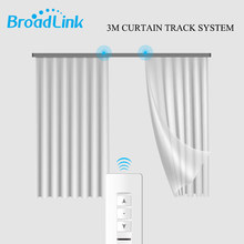 Broadlink WiFi Curtain Motor CM+3M Customizable Aluminum Electric Window Curtain Track Rod Rail Remote By IOS Android Phone(China)