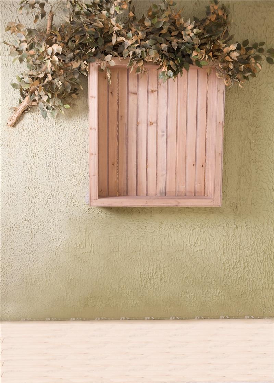 3x5ft flower wood wall vinyl background photography photo studio props - Photo Studio Baby Background Props Wood Window Photography Backdrops Children Vinyl 5x7ft Or 3x5ft Jieqx010