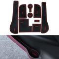 9Pcs/Set Car Styling Slot Pad Interior Door Groove Mat Latex Anti-Slip Cushion For Volkswagen Golf 7 2014-2015 Car Dedicated