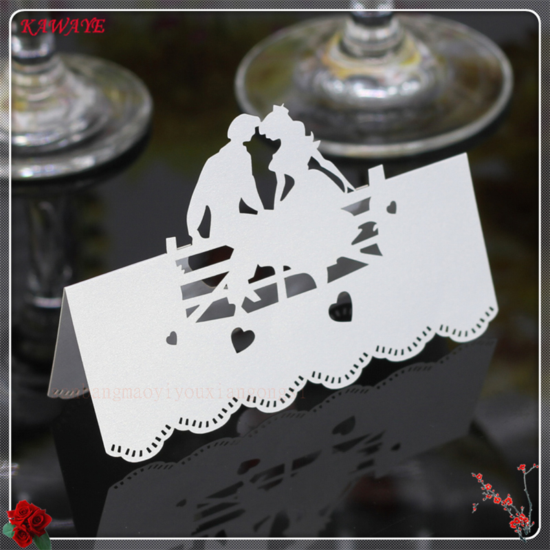50Pcs Laser Cut Name Card Name Table Place Card Creativity Wedding Celebration Birthday  ...