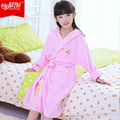 Hilift child bathrobe cotton 100% child robe 100% cotton bathrobe thick