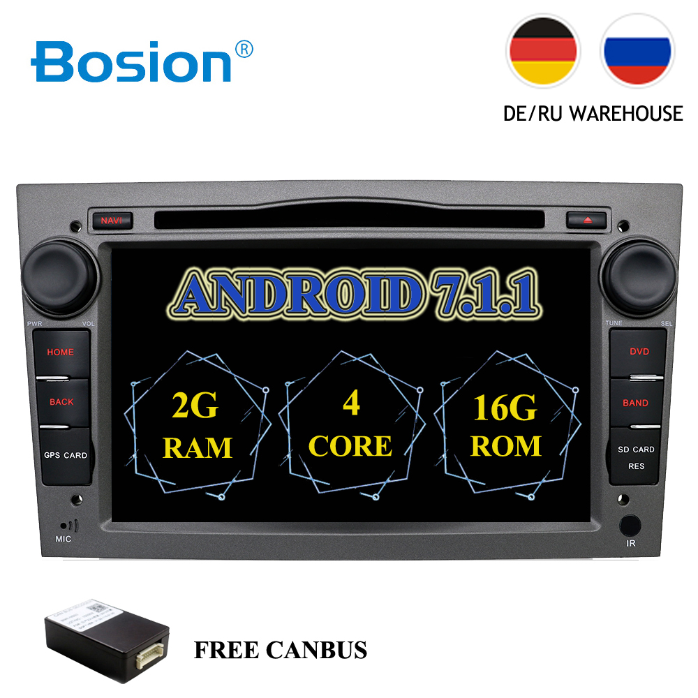 цена на Android 7.1 2Din Car DVD GPS Navigation Autoradio for Opel Astra H G J Antara VECTRA ZAFIRA Vauxhall with CANBUS BT WIFI OBD DVR