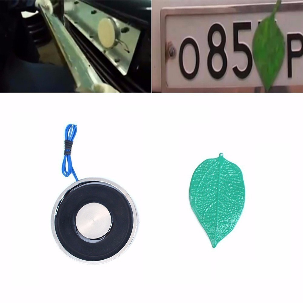 (Gift Iron Leaves)70/10 Electromagnet 12V/24V Disappear Car License Plate Number Holding Electric Solenoid Sucker Electro Magnet