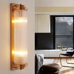 Lampy kryształowe ściany nowoczesne badania lampa do salonu tło przejściach i korytarzach złoty ściany światła jadalnia dekoracyjne ściany kinkiet sypialnia światła