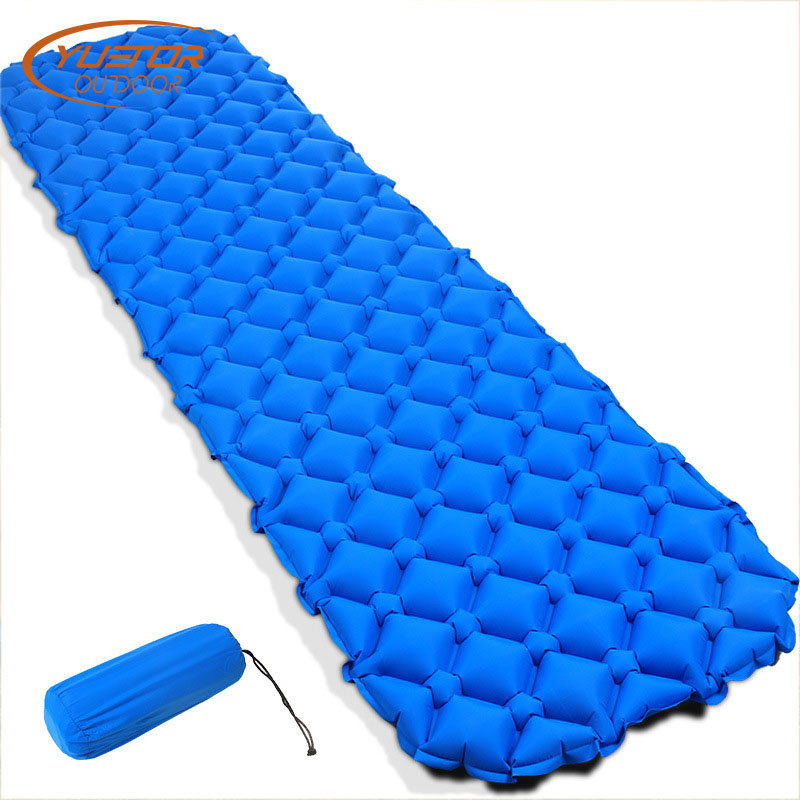 YUETOR EN PLEIN Air Ultra-Léger Air Matelas Gonflable Automatique Lit Portable Pliant TPU Unique Matelas De Plage Camping En Plein Air Tapis
