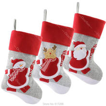 лучшая цена Personalized Stocking Embroidered Names Christmas Customized Stockings DHL TNT Free shipping Christmas Indoor Decoration