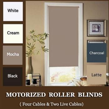 Free shipping New  Motorized Blackout  Roller blinds180cm Drop with Dooya motor  DM35S