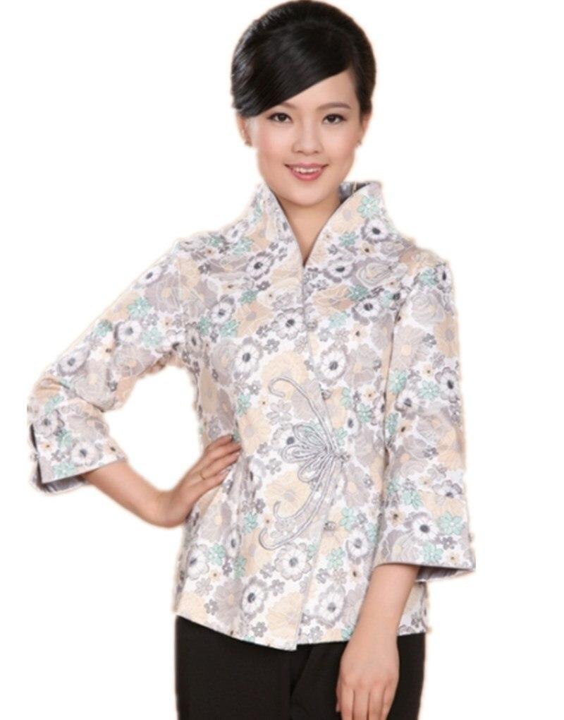 Envío de la nueva llegada de Mezcla de algodón de Las Mujeres Chinas Bordar Chaq