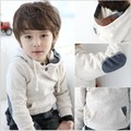 Venda quente da moda outono crianças hoodies meninos de manga longa pullovers quente crianças casacos meninos encabeça clothing