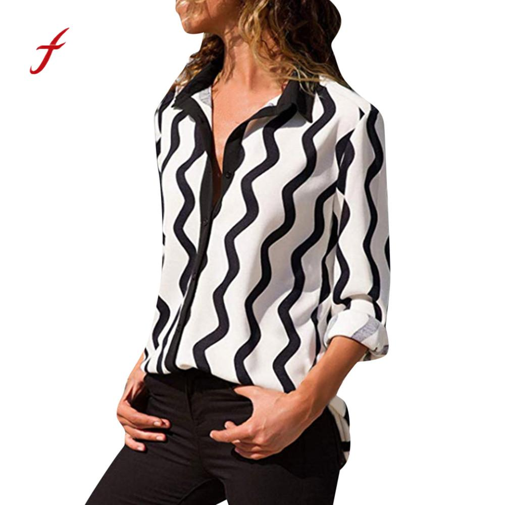 962e9e80 ... V Neck Blouse Women Casual Long Sleeve Button Front Shirt Ladies  Fashion Work Wear Tops Large Size Blouse /PT. Sale. Previous