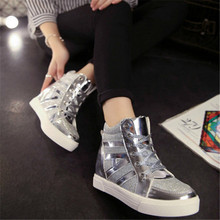 Shoes woman 2016 new spring  summer women's  brand  shoes casual shoes comfortable flat shoes lace leather light color size35-39