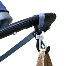 2pcs Baby Stroller Hook Bag Handle Grab Hook Holder Hanger Hooks Stroller Accessories Prams Hook for Baby Cart