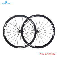 700C Racing Bicycle carbon wheels 38/50mm Carbon Road Bike Wheelset clincher 3K cadre carbone 23mm width, free shipping