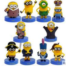 10pcs/set Despicable Me 2 Minion Action Figures Minions Cosplay PVC Action Figure Toys Anime Figurines Model Toy Gift for Kids
