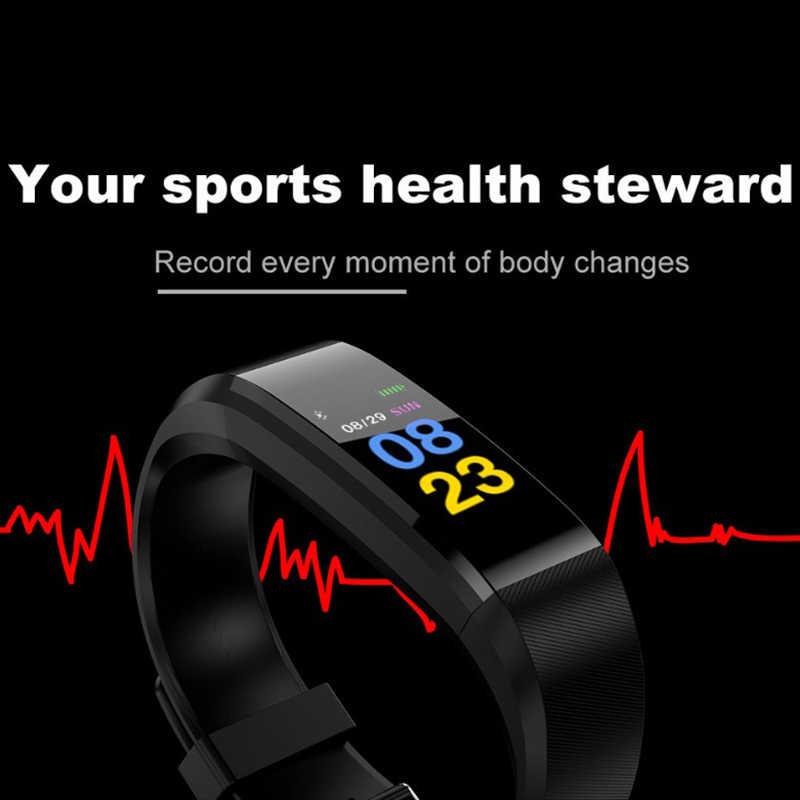 2019 New Smart Bracelet Men Women Sport Smart Watch Bluetooth Heart Rate Blood Pressure Oxygen Sleep Monitor Pedometer+Box