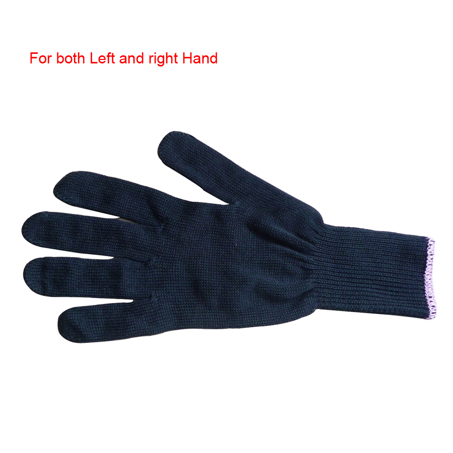 Styling Accessories Black Cotton Knitted Glove Heat Resistant Protective Glove For Hair Straightener & Curling Iron 2piece/lot image