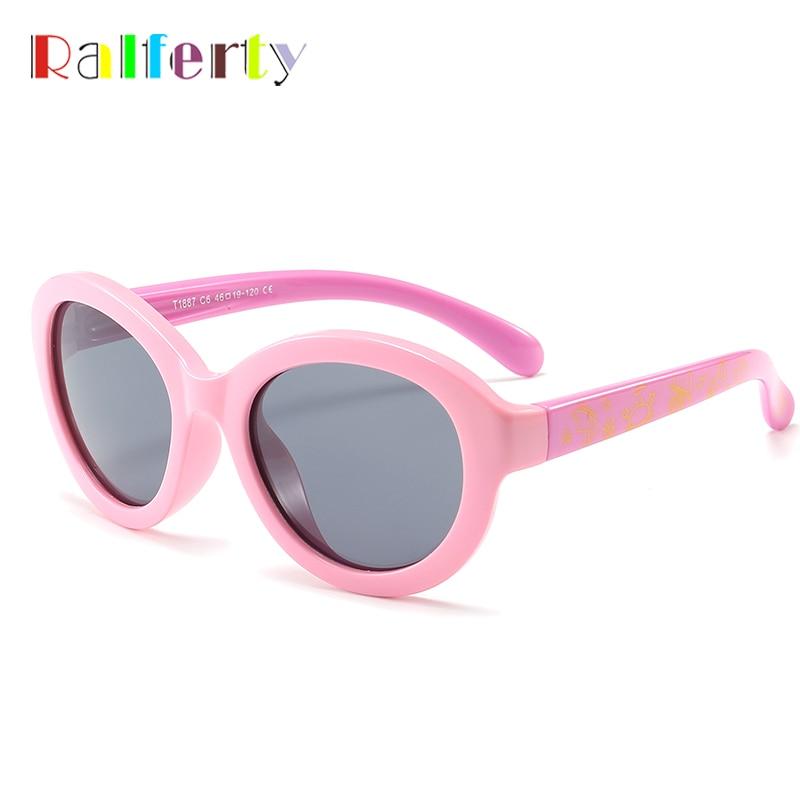 ccda2f4dbfda4 Ralferty 2018 Oval Crianças Criança Menino Menina de Óculos De Sol  Polarizados UV400 TR90 Óculos Acessórios Óculos de Sol de Silicone Flexível  K1887