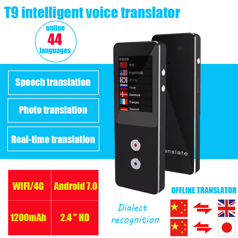 Portable two-way translator WIFI Offline English translation Travel abroad Photo translation Portable two-way translator WIFI Offline English translation Travel abroad Photo translation