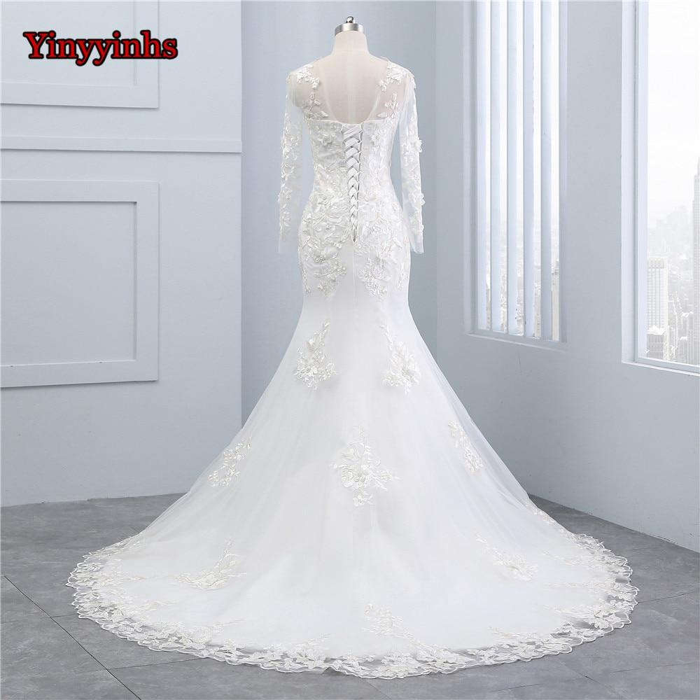 Yinyyinhs Princess Lace Beads Vintage Wedding Dresses Long Sleeve ...