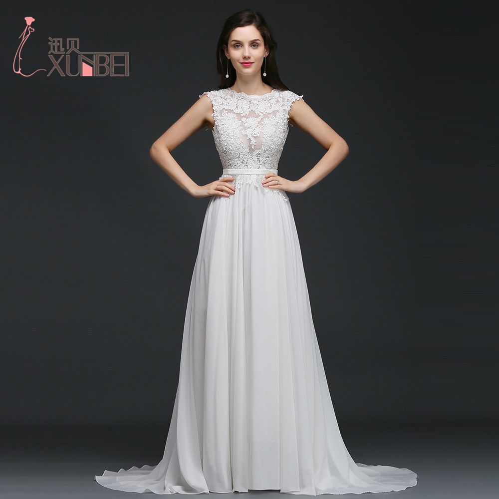 Wedding Gowns With Cap Sleeves: Aliexpress.com : Buy Simple Chiffon Lace Wedding Dresses