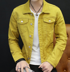 Denim Jacket Yellow Fashion Autumn New Of Cultivate Morality Men One's