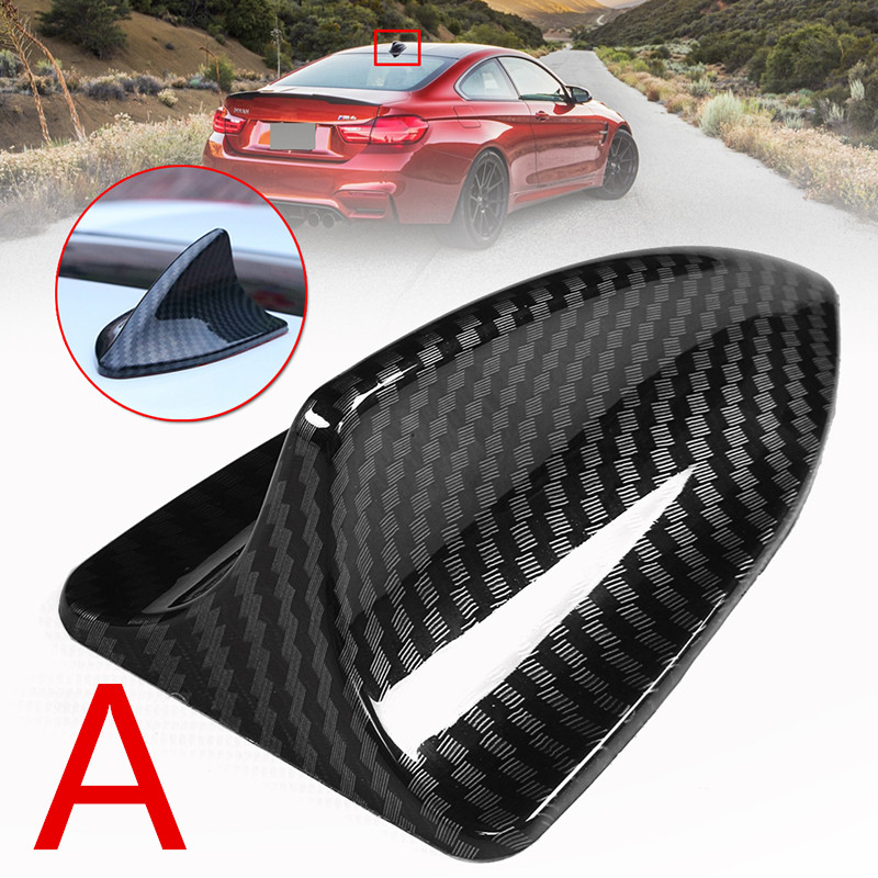 Real Carbon Fiber Shark Fin Style Car Roof Top Dummy Antenna Decor Universal Fit