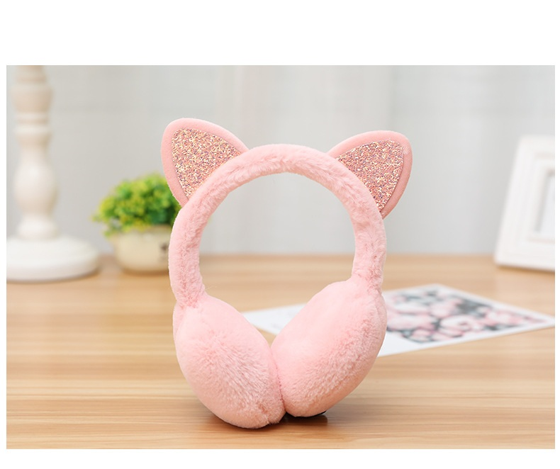 2018 New Casual Fashion Simple And Delicate Cat Ears Shape Winter Plus Velvet Warm Women's Earmuffs
