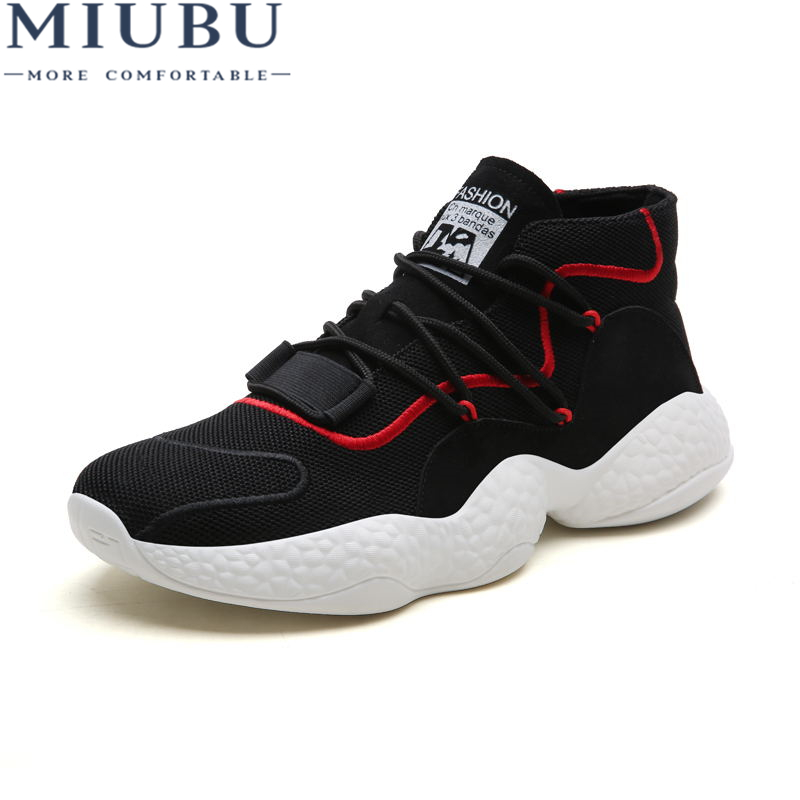 MIUBU Men Sneakers Shoes Mesh Tennis Casual Fashion Espadrilles Breathable Slip High Quality
