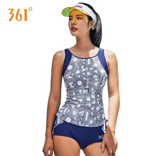 361 Women Swimwear Sport Two-piece Suits Female Removable Pad Swimsuits Summer Pool Swimming Girl Hot Spring Bathing