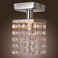 E14 Mini Flush Mount LED K9 Crystal Pendant Light Luster Light Modern Home Ceiling Lamp Fixture
