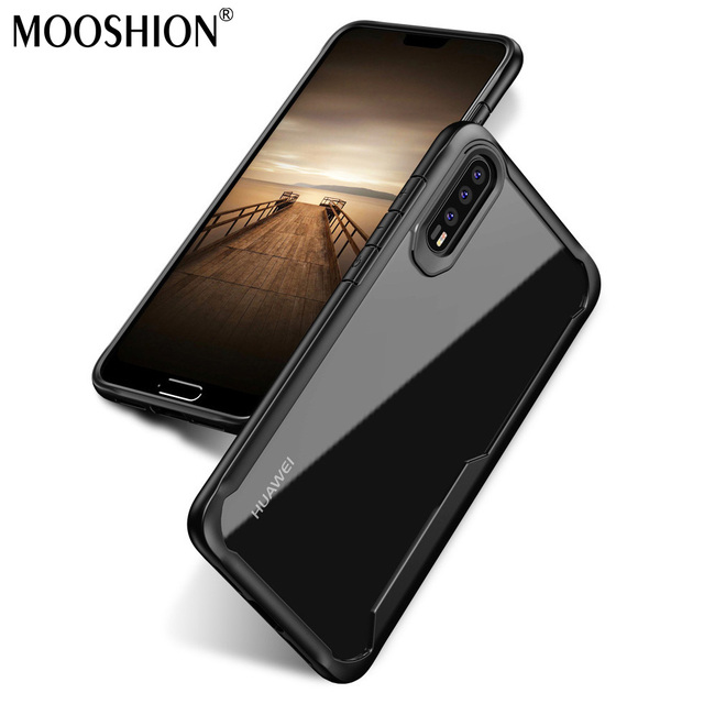 uk availability c1437 73adb US $5.27 12% OFF|MOOSHION Luxury Slim TPU Acrylic Back Cover for Huawei P20  Cases Transparent Clear Phone Case for Huawei P20 Pro Case-in Fitted Cases  ...