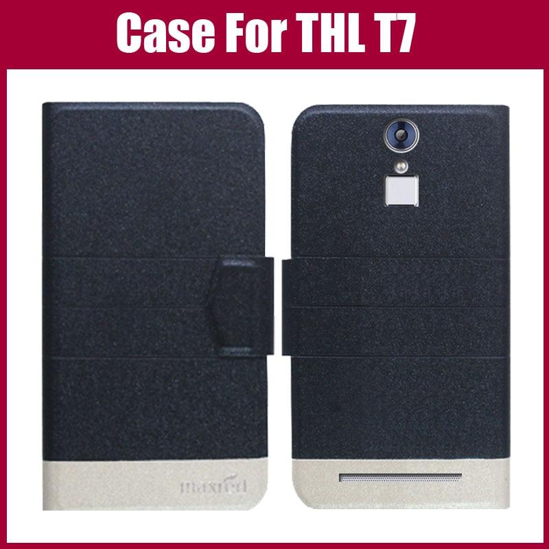 Hot Sale! THL T7 Väska Ny ankomst 5 färger Fashion Flip Ultratunt - Reservdelar och tillbehör för mobiltelefoner - Foto 1