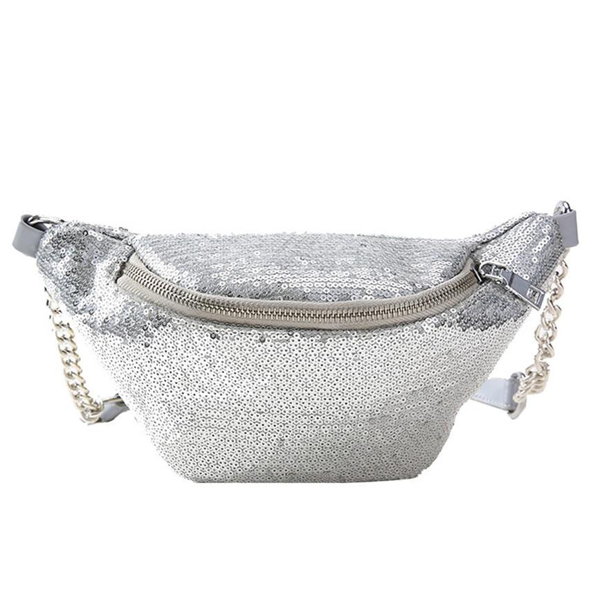 Women Fashion Sequins Leather Messenger Bag Ladies Girls Zipper Shoulder Bag Satchels Chest Bag High Quality Solid ShoulderBag S
