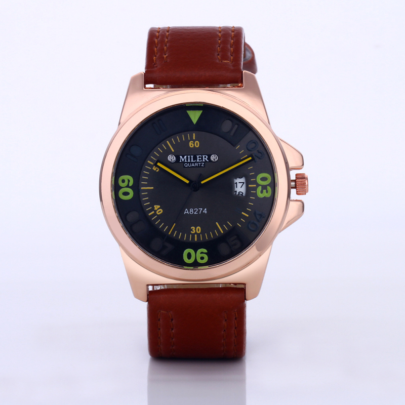 MILER Fashion Army Military Watches Auto Date Sport Watch Men Watch Leather Quartz Watch Hour relogio masculino reloj hombre цена и фото