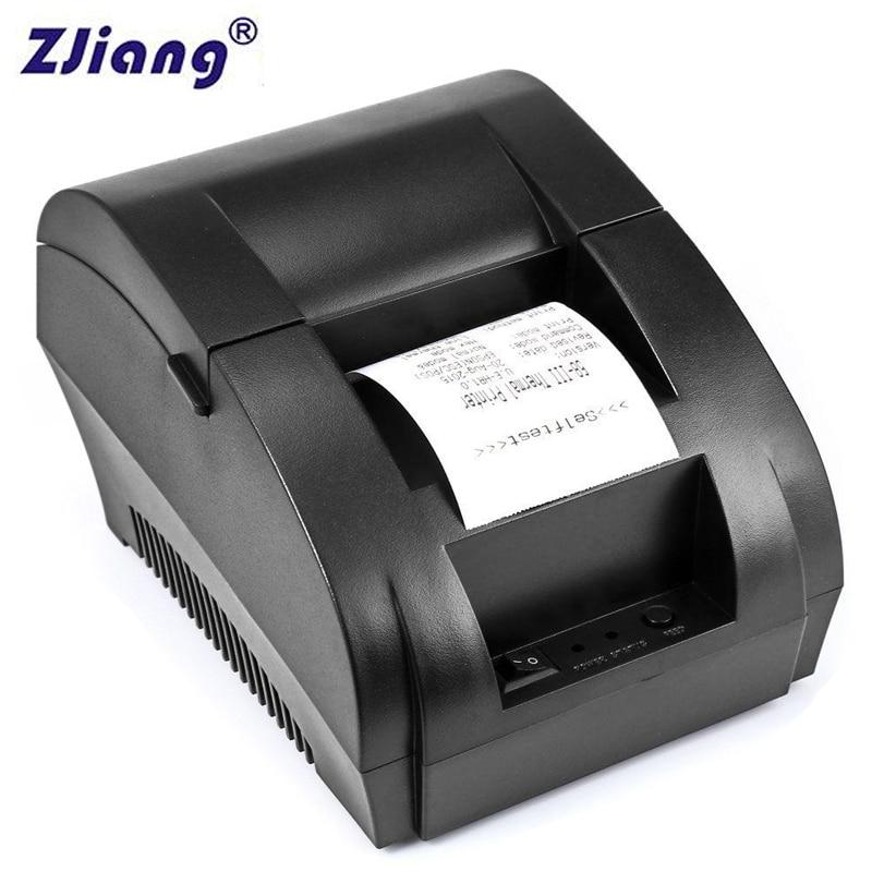 Impresora de recibos térmica Original ZJ 5890 K 58mm POS impresora de recibos Universal compatible con controlador de cajón de efectivo matriz de puntos