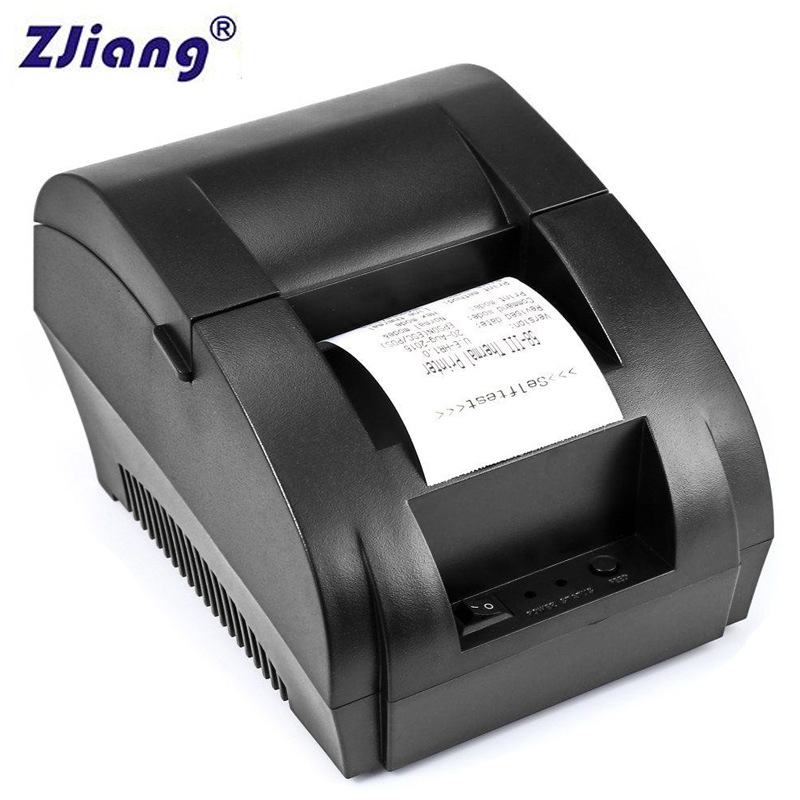 Original ZJ 5890K 58mm POS Resit Thermal Bill Printer Printer Tiket Universal Sokongan pemandu laci tunai Dot-matriks