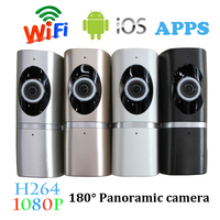 1 PCS 1920 1080 2 0MP IP Camera Home Security Surveillance Wireless 180 Degree Wifi Panoramic
