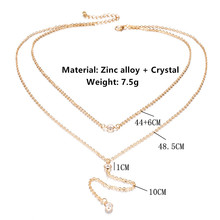 Charm Multilayer Long Chain Necklace