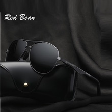 width-145 New alloy Polarized Sunglasses Men Toad High Quality Mirror Retro Driving Anti-Reflective UV400 brand male