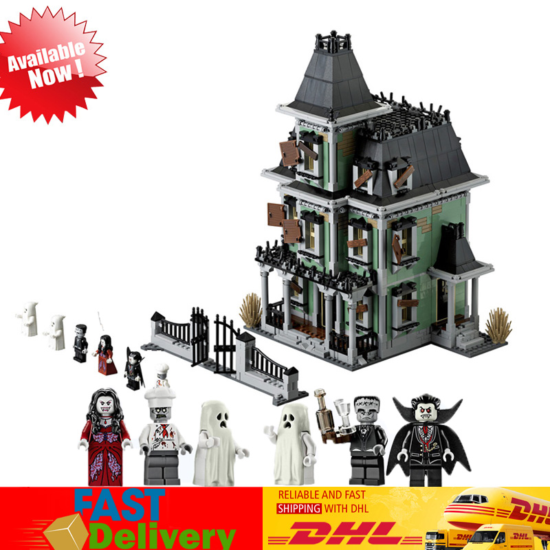 2018 LEPIN 16007 2141Pcs Monster Fighter The Haunted House Model Building Blocks Bricks Toys Gifts Compatible LegoINGlys 10228 2141pcs monster fighters haunted house vampyre castle 16007 model building blocks children gifts sets movie compatible with lego