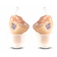 2 pcs ce fda cofoe aparelho auditivo cic cic invisível mini Aparelhos Auditivos dispositivo fone de Ouvido Dentro Do Ouvido Para Idosos para a esquerda/direita ouvido