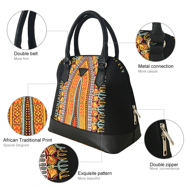 FANS FACE Luxury Handbags Women Bags Designer Traditional African Style High Quality African Fabric Dress Accessories 1