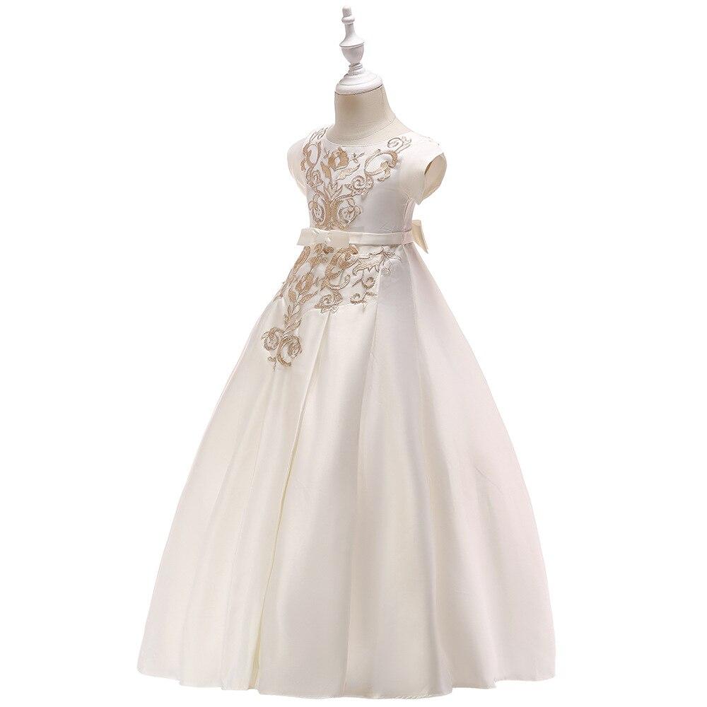 Baby Kids White Bridesmaid Flower Girls Wedding Dress Party Dress Children  Princess Dress Teenage Girls Clothing. sku  32952399035 cec90de810e4