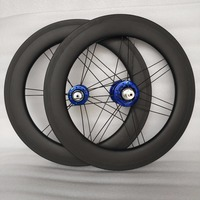 SEMA hot sale 17inch 369 carbon wheelset for Alex Moulton bike Chris King hub 100/130 best quality carbon wheel for folding bike