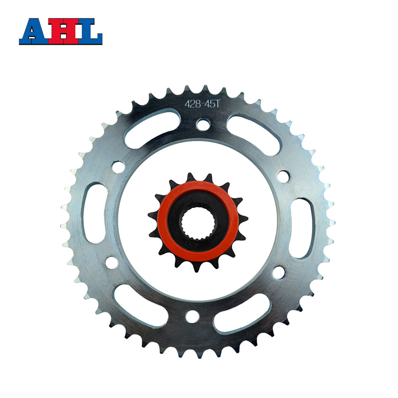 Motorcycle Parts Front & Rear Sprockets Kit For Yamaha YBR250 YBR 250 2007-2011 Gear Fit 428 Chain