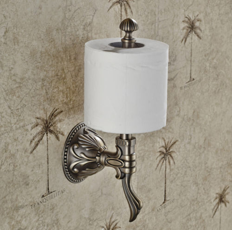 Elegant-Wall-Mount-Toilet-Upright-Paper-Holder-Roll-Tissue-Bracket-Antique-Brass