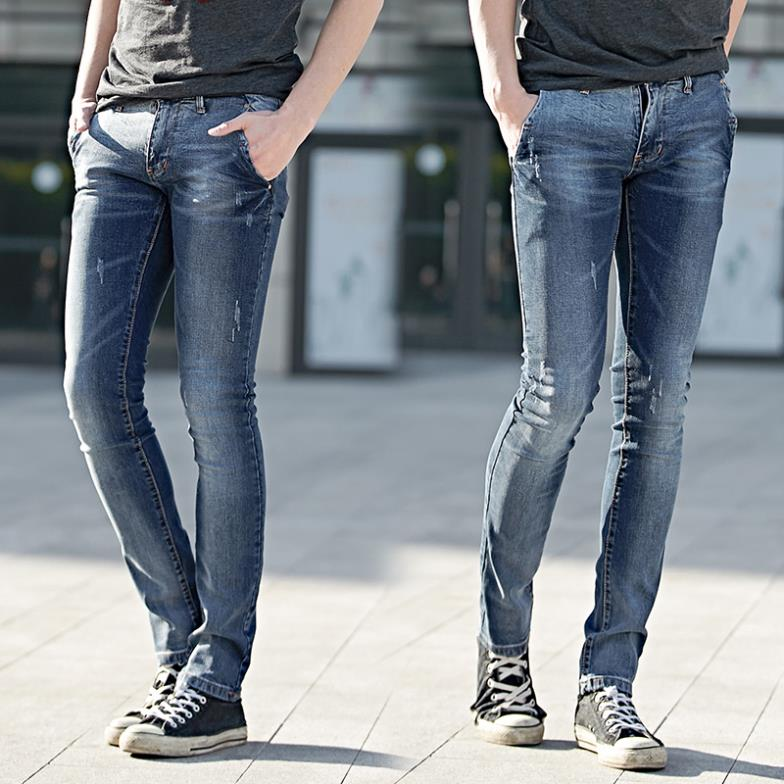 Sale Fashion Pencil Pants Denim Mens Stretch White Skinny Jeans