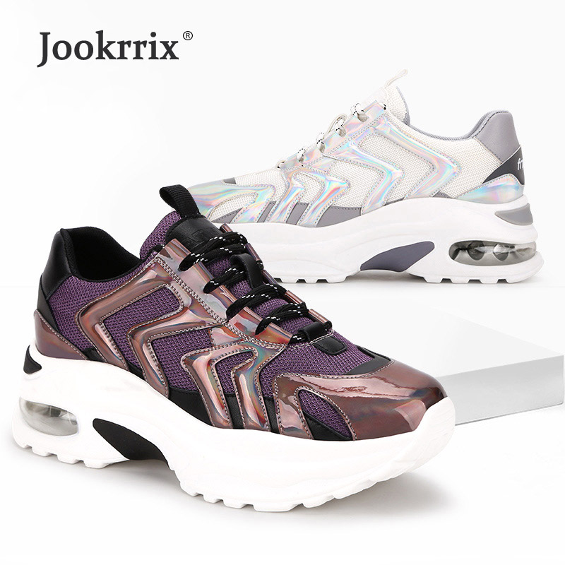 New White Shoes Women Casual Sneakers Platform zapatos de mujer Spring Lady footware Cross tied chaussures femme Patchwork Mesh-in Women's Vulcanize Shoes from Shoes    1