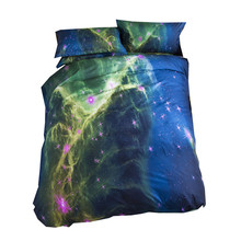 3d Galaxy Bedding Sets Single Double Twin/Queen 2pcs/3pcs/4pcs Bedclothes Bed Linen Universe Outer Space Duvet Cover Set